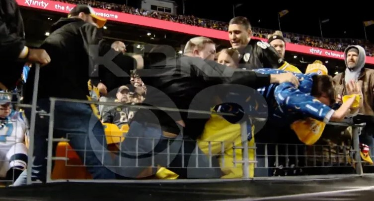 Steelers Fan Chokes Pregnant Chargers Fan During Scuffle