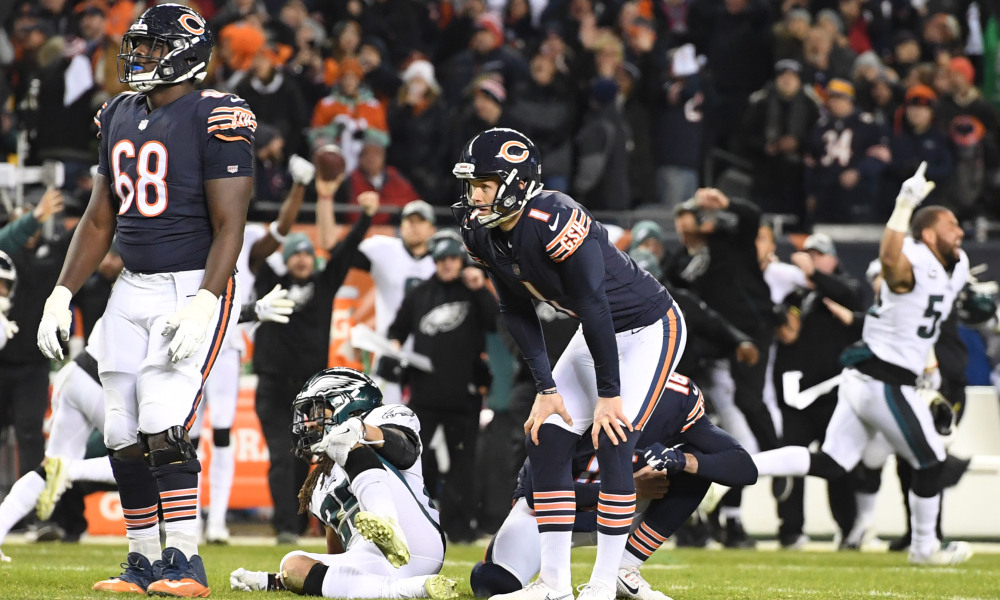 Eagles Win After Bears Kick Cody Parkey Misses Game Winning Field Goal