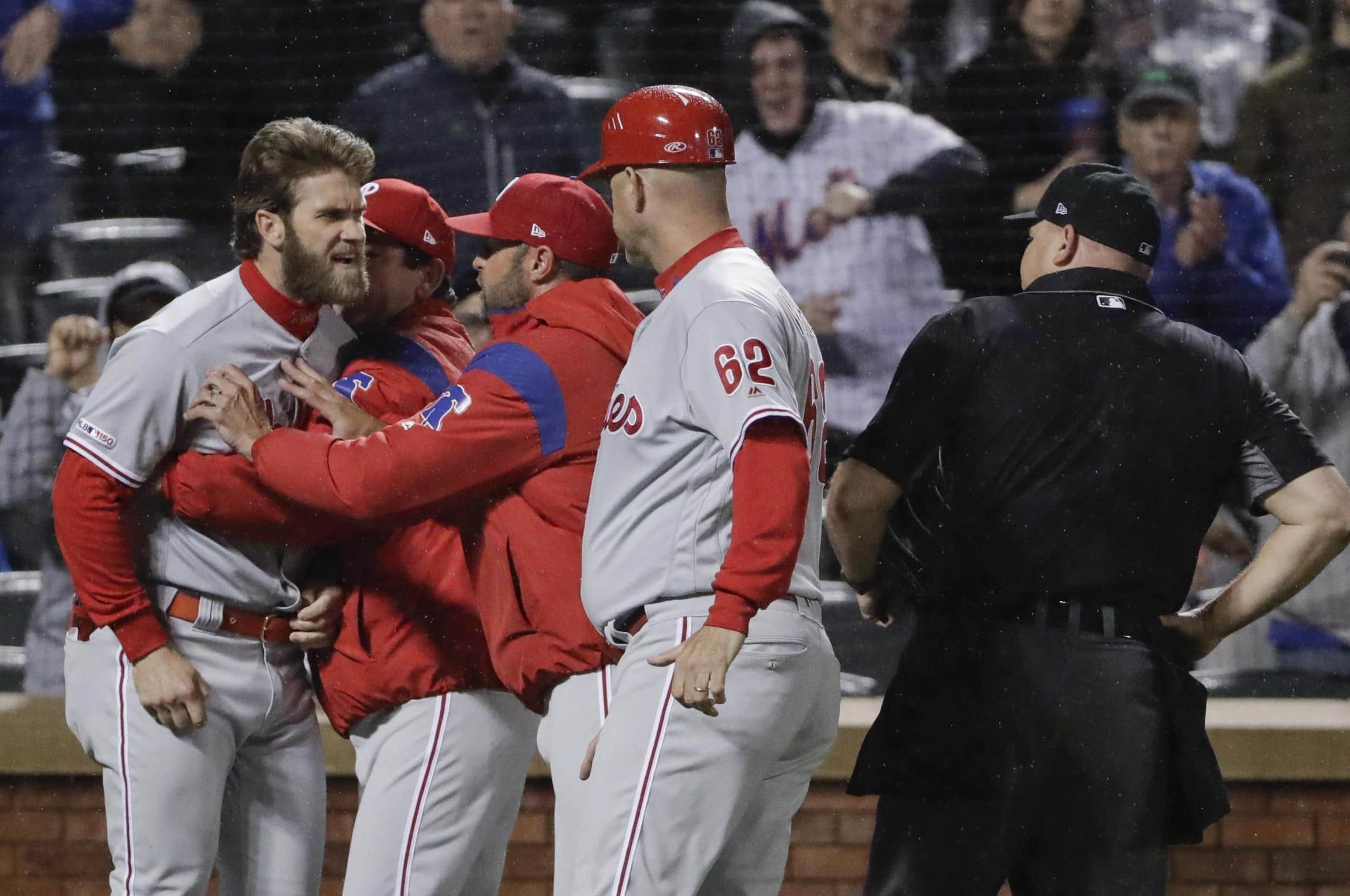 Bryce Harper Unleashes On Umpire After Getting Ejected