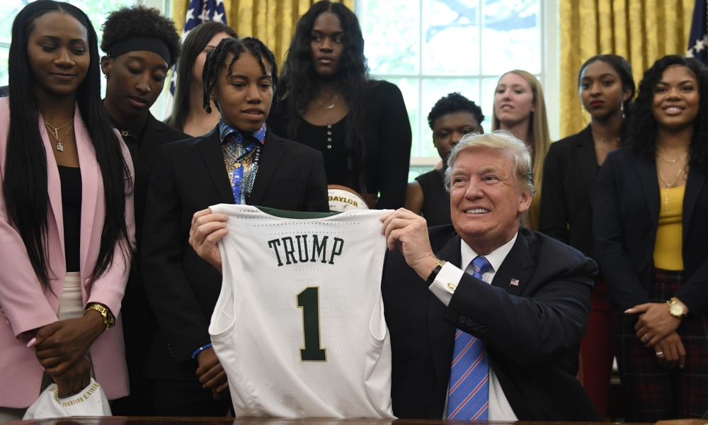 Donald Trump Treats Baylor Lady Bears Basketball Team Fast Food Again During White House Visit