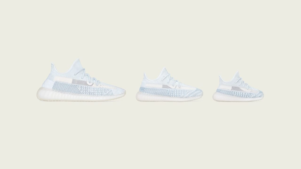 """adidas YEEZY BOOST 350 V2 """"Cloud White"""" Releasing in Full Family Sizing"""
