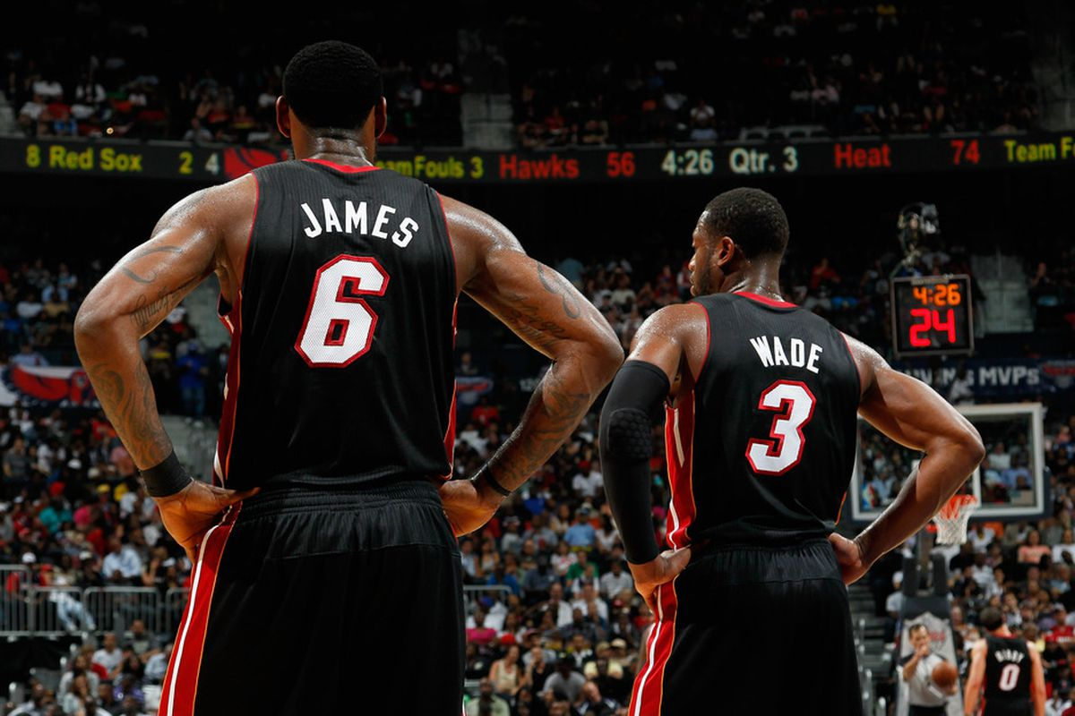 lebron and d wade