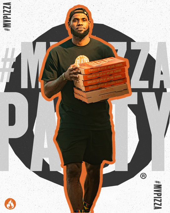 LeBron James and Blaze Pizza